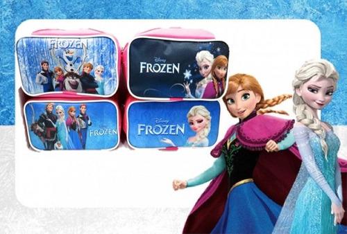cartuchera portacosmétic frozen princesa sofia cotillon vena