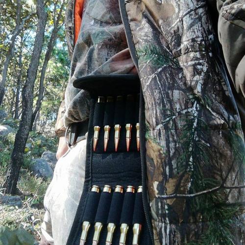 cartuchera tiros alto poder d rifle funda cartera cazeria