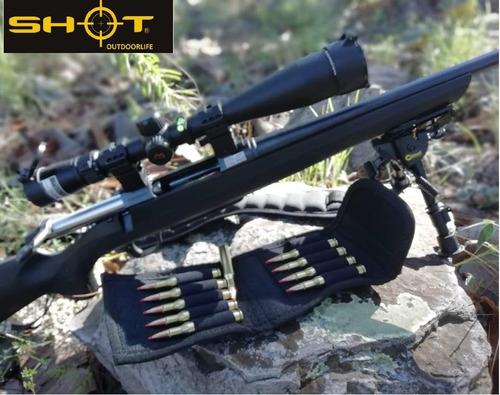 cartuchera tiros alto poder d rifle funda cartera cazeria cartuchos balas envio gratis