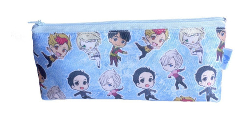 cartuchera triangular de anime de yuri on ice yaoi