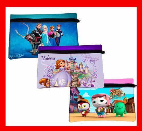 cartucheras  personalizadas - con tus personajes favoritos