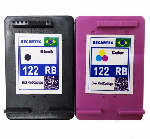 cartucho 122 preto e color 1000 2050 3050 oferta