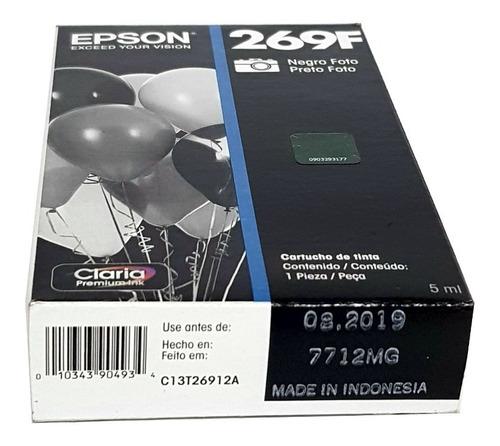 cartucho 269f preto foto - t269120 - epson