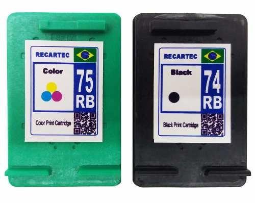 cartucho 74 preto e 75 colorido para impressora c4480