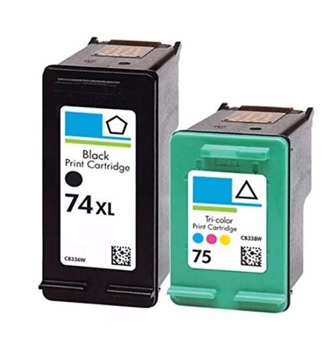 cartucho 74xl + 75 impressora hp photosmart c4480 promoção