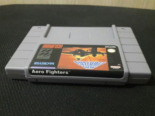 cartucho aero fighters p super nintendo novo! snes fita jogo