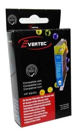 cartucho alternativo 564  amarillo 14,5ml evertec smarts