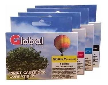 cartucho alternativo para 564xl b210 b209 6380 5460 pack x4