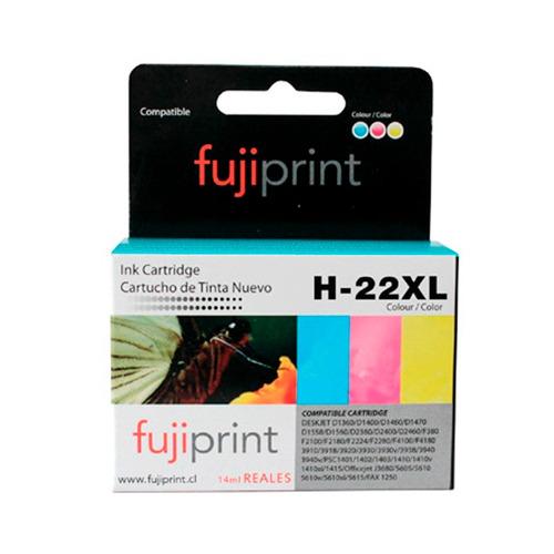 cartucho alternativo para hp 22 xl color 14ml