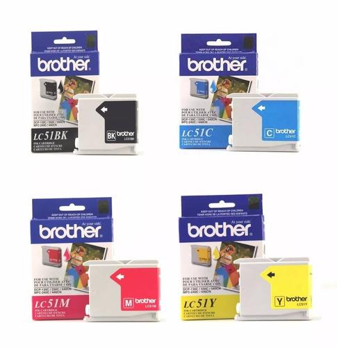 cartucho alternativos para brother lc51 color (x 4)