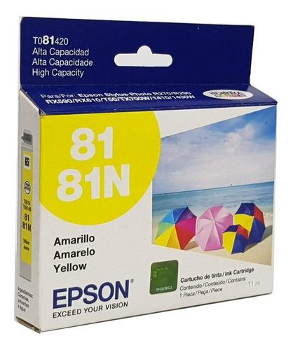 cartucho amarelo 81 81n - t081420 - epson