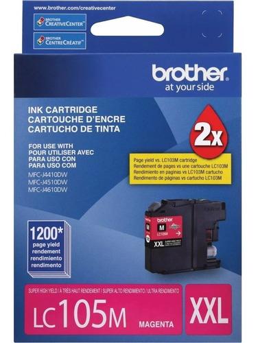 cartucho brother lc-105 magenta 1,200 paginas