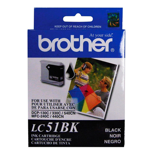 cartucho brother original lc51bk black dcp-130 | mfc-240