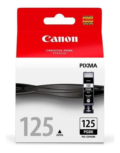 cartucho canon 125pg negro original