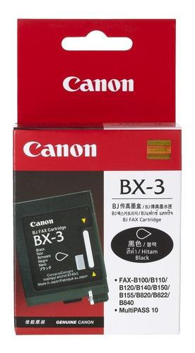 cartucho canon bx 3 negro original b540 550 640 800 faxphone