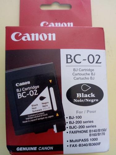 cartucho canon original bc-o2 negro