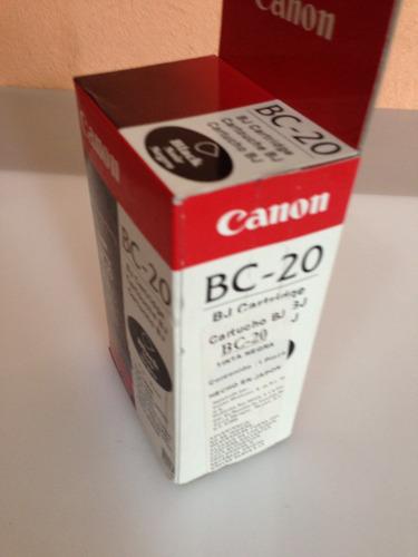 cartucho canon original negro bc-20 bjc-2000/4000/5500 serie
