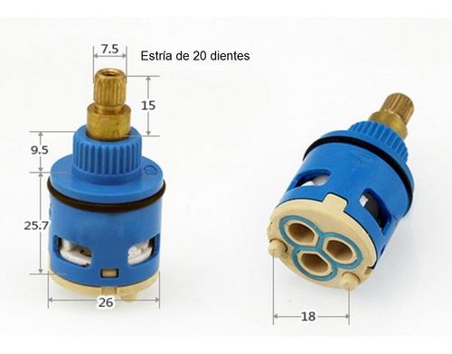 cartucho cierre cerámico selector de 3 vías 26mm con oring