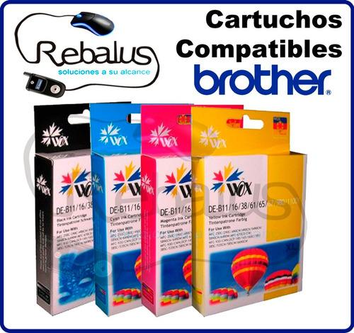 cartucho compatible brother impresora multi dcp 165 negro