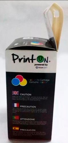 cartucho compatible hp 60 xl color printon f4280 f4480