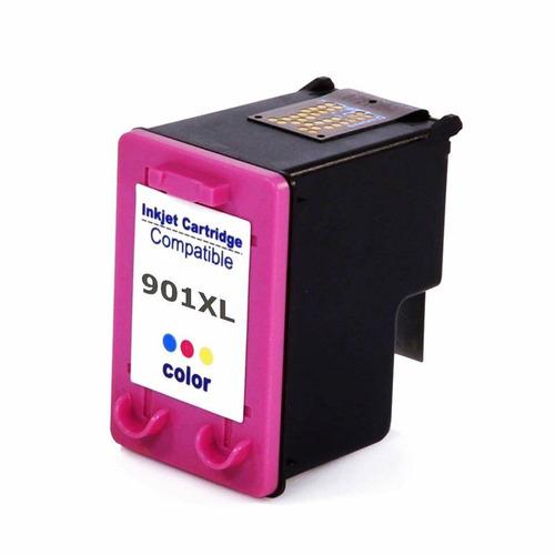 cartucho compatível com hp 901 color impressora j4660 4500