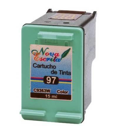 cartucho compativel hp 97 colorido c9363w psc 1610 2355 2610