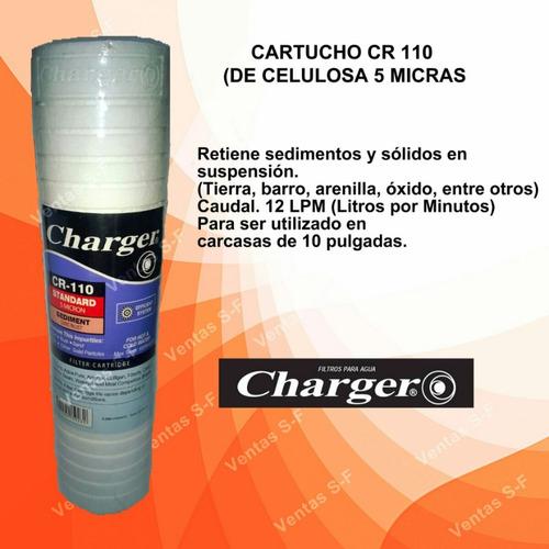 cartucho de filtro de agua charger 10pulg