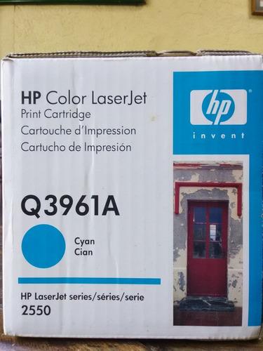 cartucho de impresion hp laserjet q3961a color azul