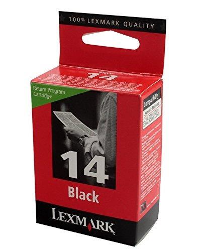 cartucho de impresión lexmark no 14 black return prog
