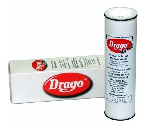 cartucho de repuesto para filtro purificador agua drago