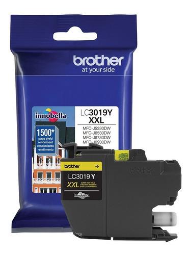 cartucho de tinta brother lc3019y mfc-6730dw 1500 amarillo