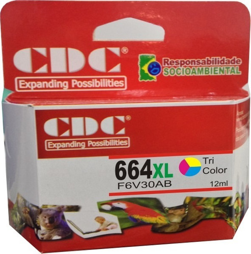 cartucho de tinta cdc 664xl color