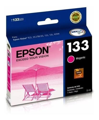 cartucho de tinta epson t133320 133 magenta original