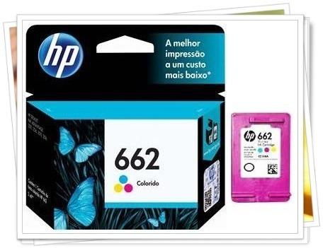 cartucho de tinta hp 662 colorido 2ml (promoção)