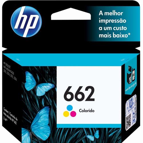 cartucho de tinta hp 662 cz104ab tricolor original