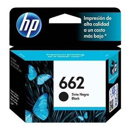 cartucho de tinta hp 662 negra original en caja