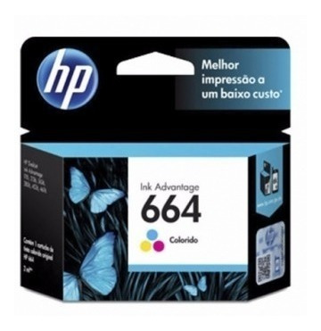 cartucho de tinta hp 664 color original f6v28al