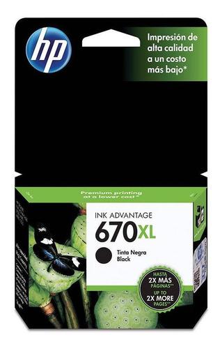 cartucho de tinta hp 670xl negra