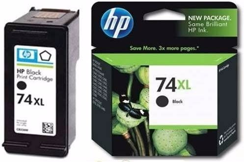 cartucho de tinta hp 74 xl black cb336w original