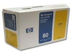 cartucho de tinta hp 80 amarillo, 350ml, c4848a