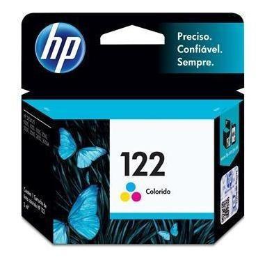 cartucho de tinta hp deskjet 122 tricolor - ch562hb