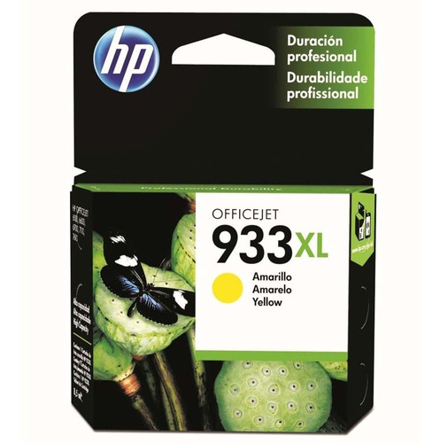 cartucho de tinta hp officejet 933xl cn056al amarelo