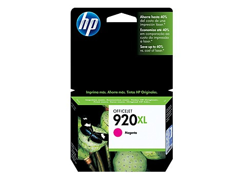 cartucho de tinta magenta hp 920xl cd973al
