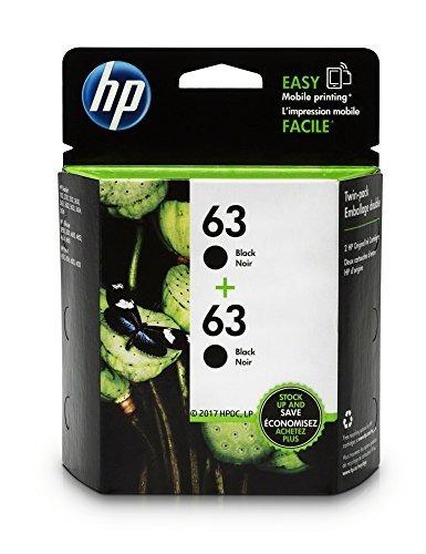 cartucho de tinta negro 63 2-pack (t0a53an) hp