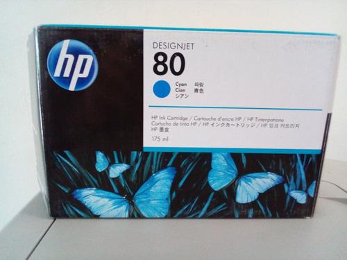 cartucho de tinta p/plotter hp 80 cyan  175ml c4872a