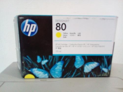 cartucho de tinta p/plotter hp 80  yellow  175 ml c4873a