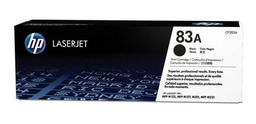 cartucho de tóner hp 83a - negro - laserjet - original (cf28