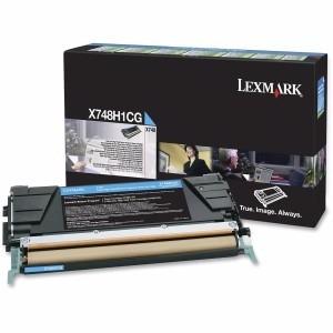 cartucho de tóner lexmark original - cián (x748h1cg)
