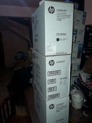 cartucho de tóner negro hp 90x ce390x hp 4555 caja abierta