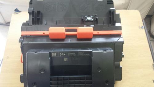 cartucho de toner original hp 64x nuevo sin caja